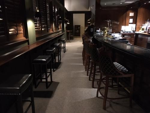 Sullivan & Son Carpet's commercial division specified, supplied and installed this high performing carpet tile from Tandus in Monty's River Grille.