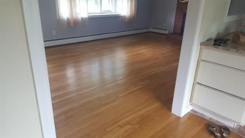 After her tenant moved out in  2017, our customer sent us pictures of the floors we completed for her in 2012